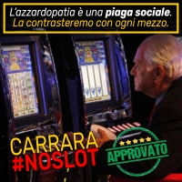 Carrara, dopo Roma, diventa #NoSlot