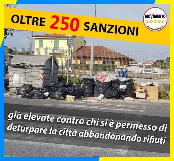 M5S: oltre 250 sanzioni per abbandono di rifiuti