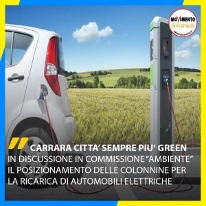 M5S: Porta A Porta a Fossone e colonnine di ricarica per automobili elettriche. Carrara una città sempre più Green.