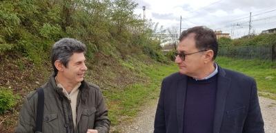 Delegato di Fondazione F.S. in visita al tracciato della ex Ferrovia Marmifera