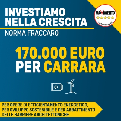 Grazie al Governo Conte, a Carrara 170.000 euro